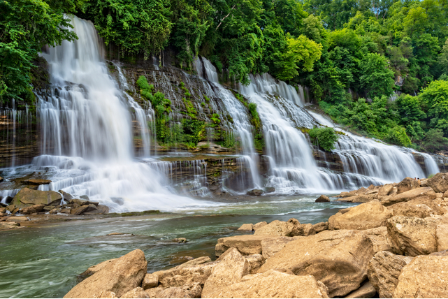 Rock Island State Park Hiking Trails and Waterfall in Tennessee