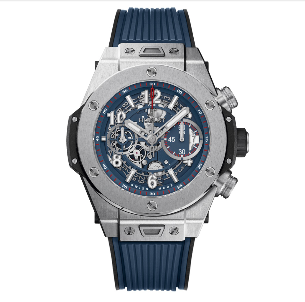 Hublot Big Bang Unico Titanium Blue Watch for the guys who love arm candy