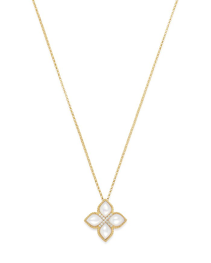 Four pointed star with gold chain by Roberto Coin King Jewelers