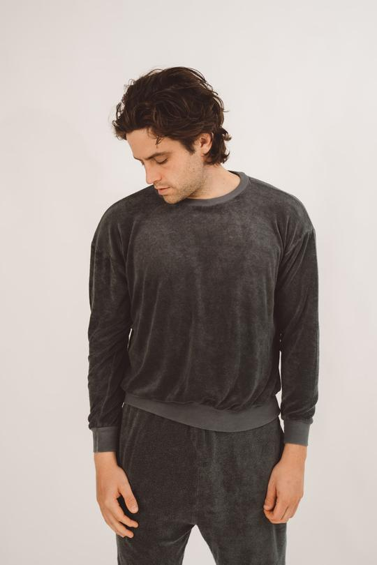 Grey lounge top for men by Brownlee