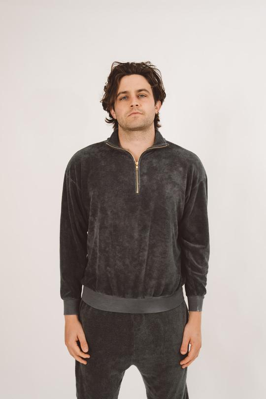 Brownlee loungewear for men. Top with zipper collar