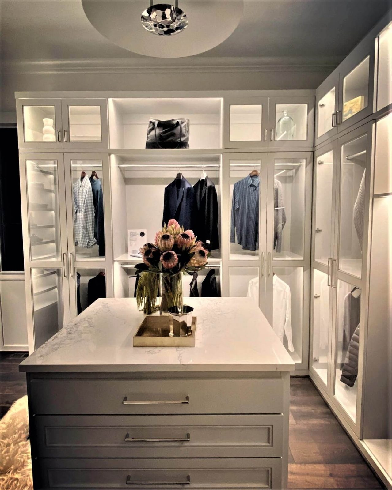 Contract with The Closet Company in Nashville TN if your men like to organize