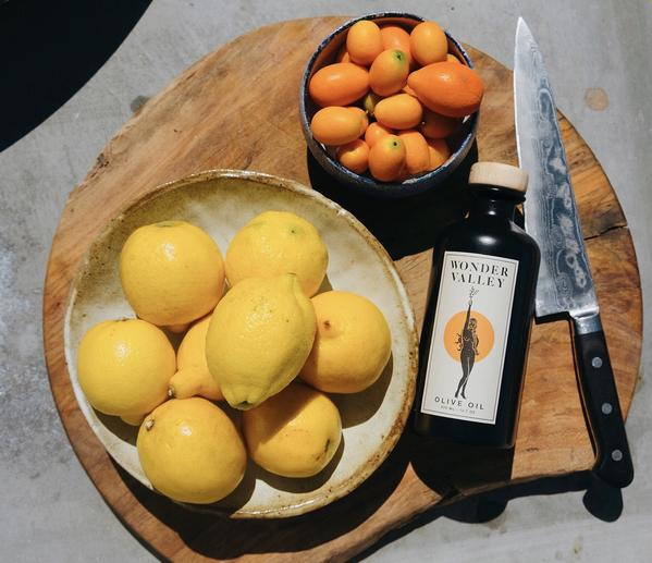 Citrus fruits to show the new scent of orange perfume