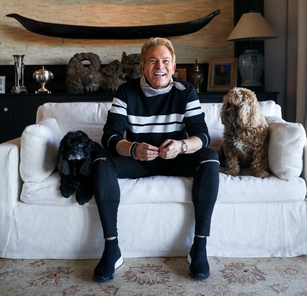 Fletcher Foster and his dogs