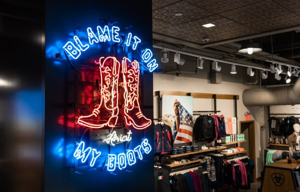 blame it on my boots neon sign