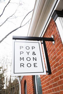 Poppy Monroe signage