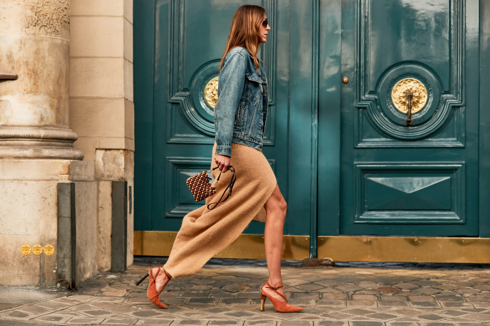 denim and skirts spotted at the paris fashion week