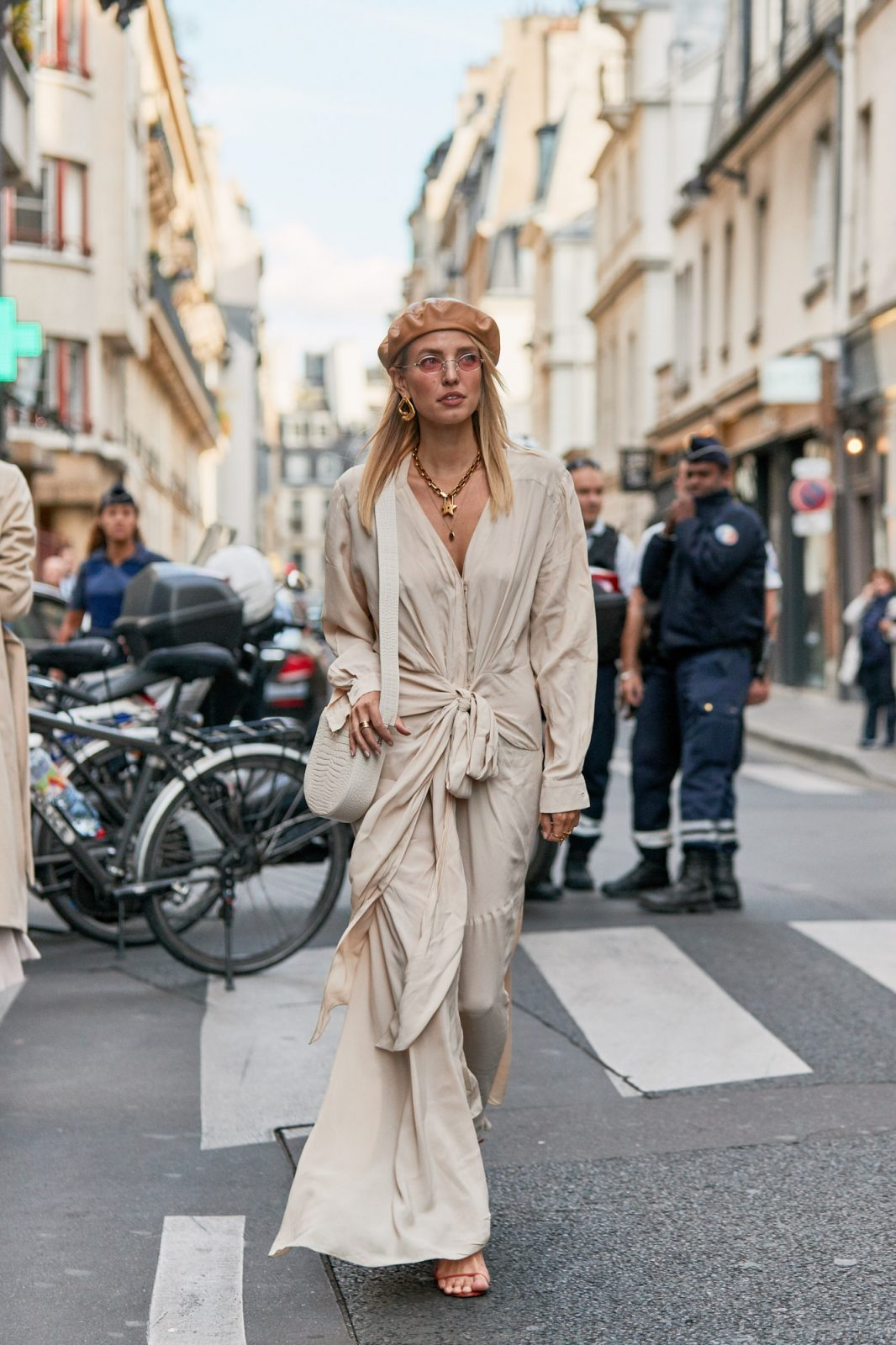 cream outfit from paris