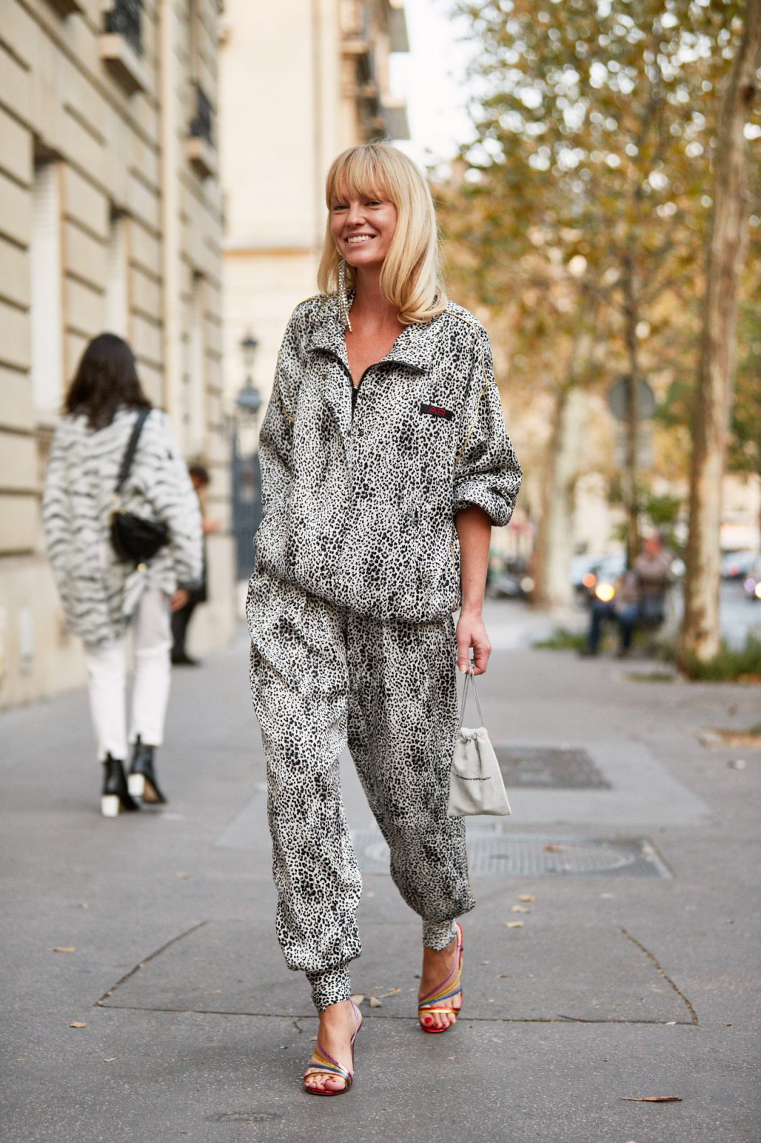 lounge-y grey fashion day suit