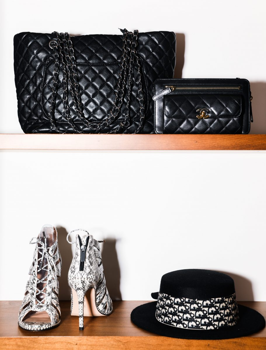 black quilted leather bags