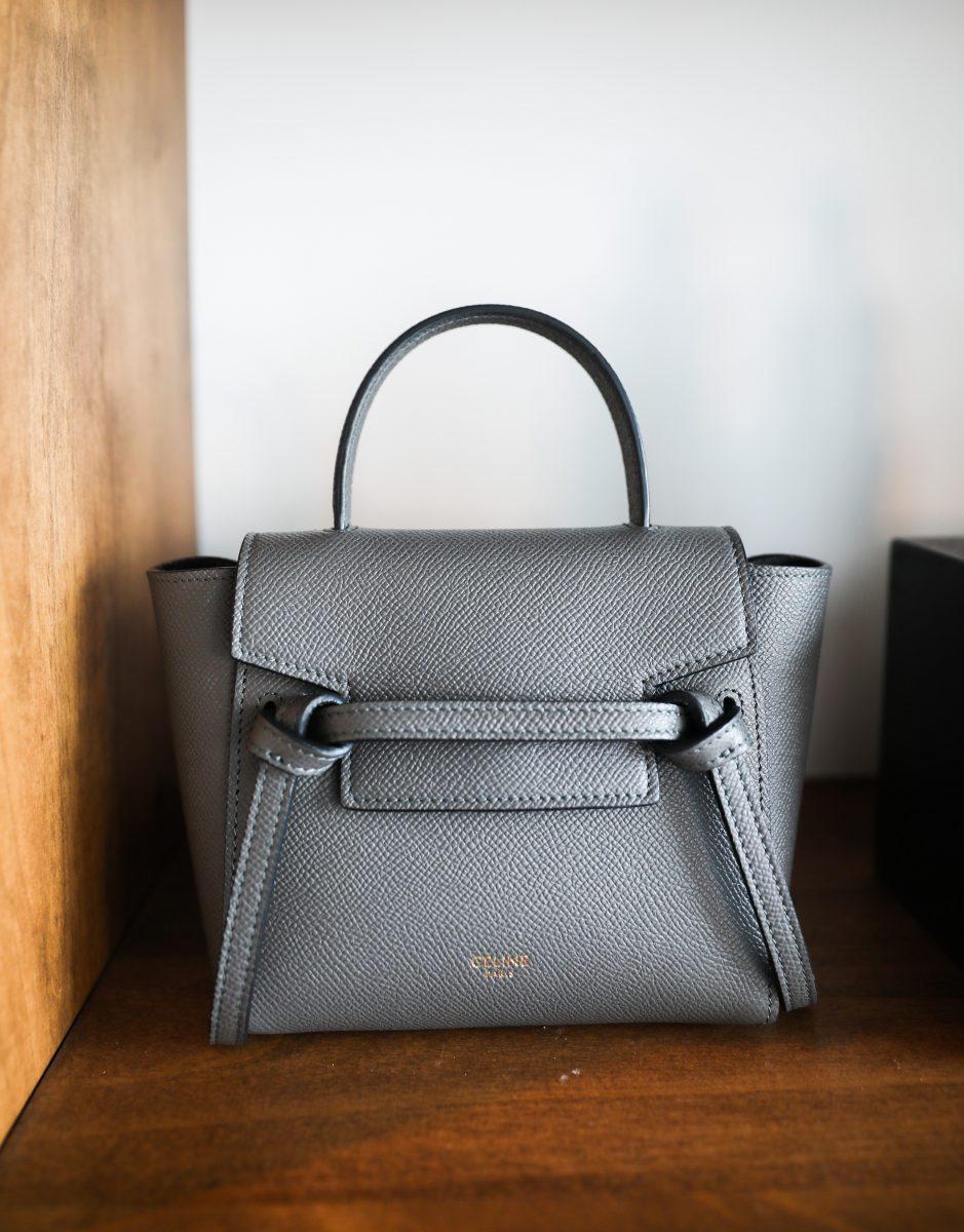 Celine's grey leather purse