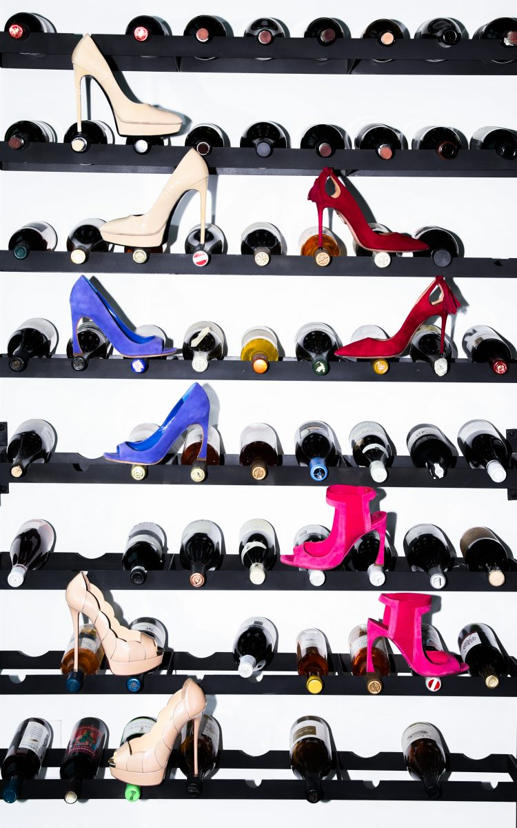 Pumps and wine