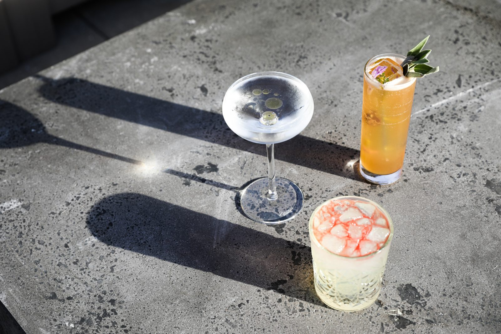Popular drink selections from E3 Chophouse in Nashville, TN