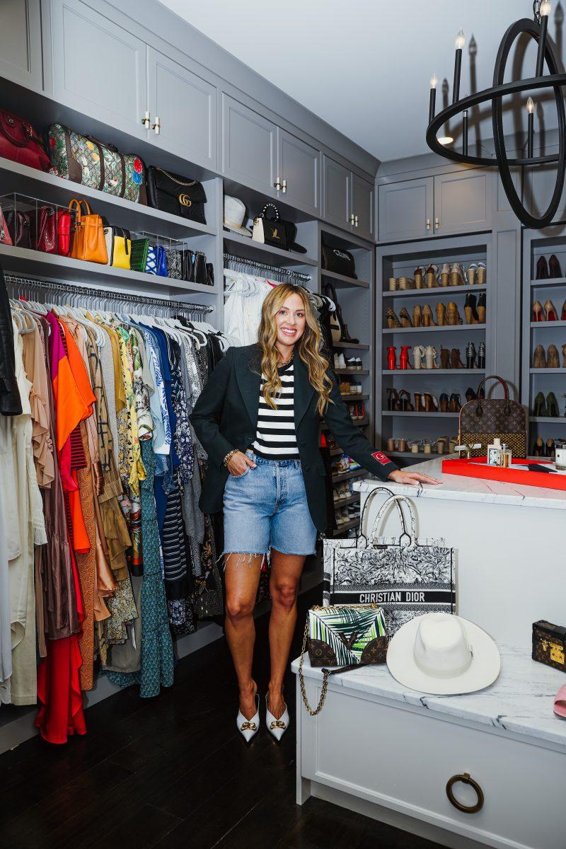 Elizabeth Allen shows off her enviable closet
