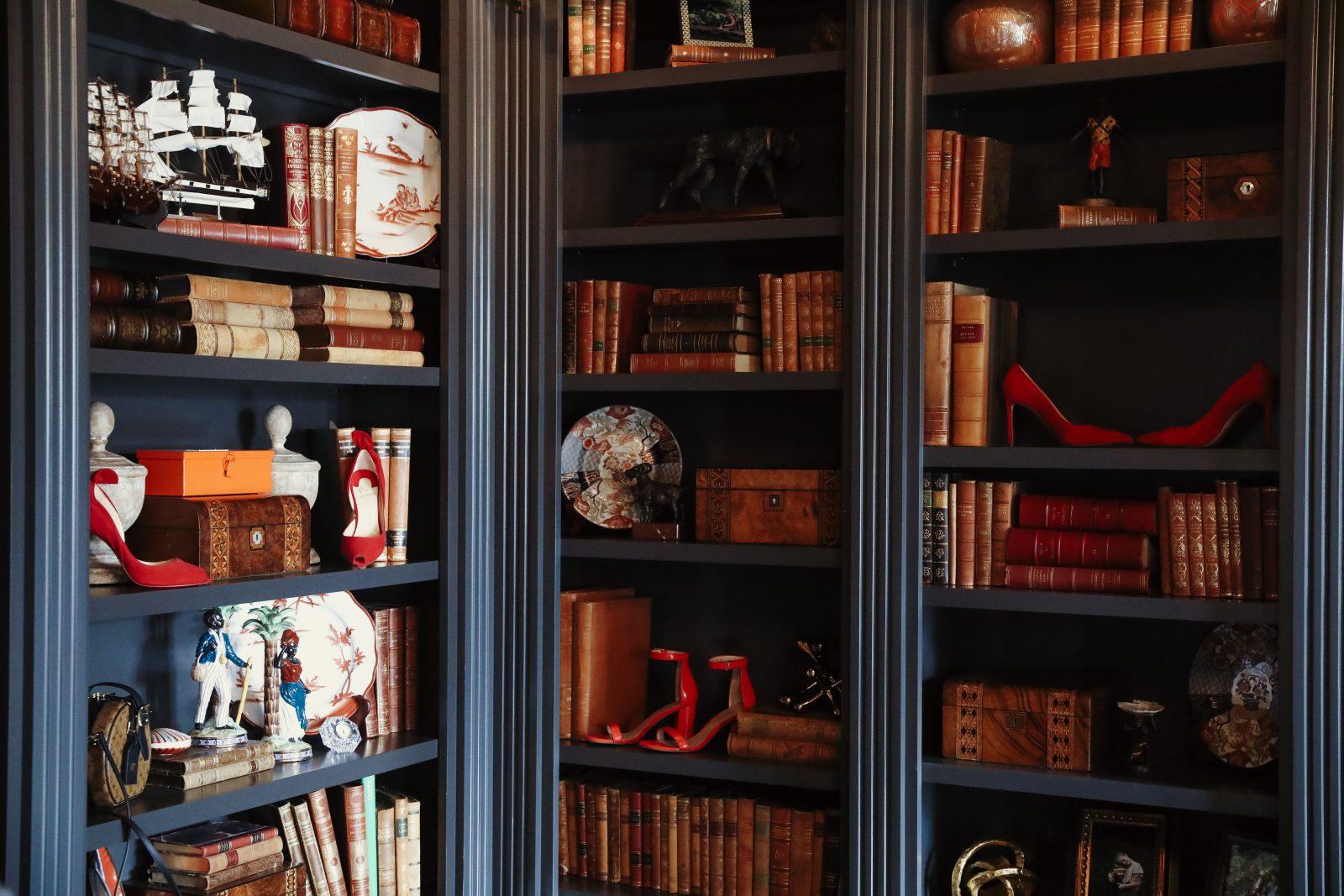 Vintage library aesthetics from Elizabeth Allen photoshoot
