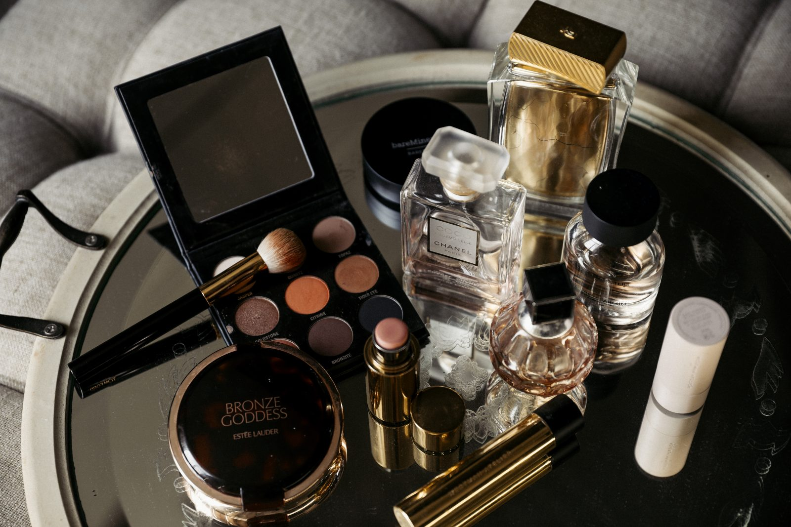 A collection of favorite cosmetic essentials from Elizabeth Allen