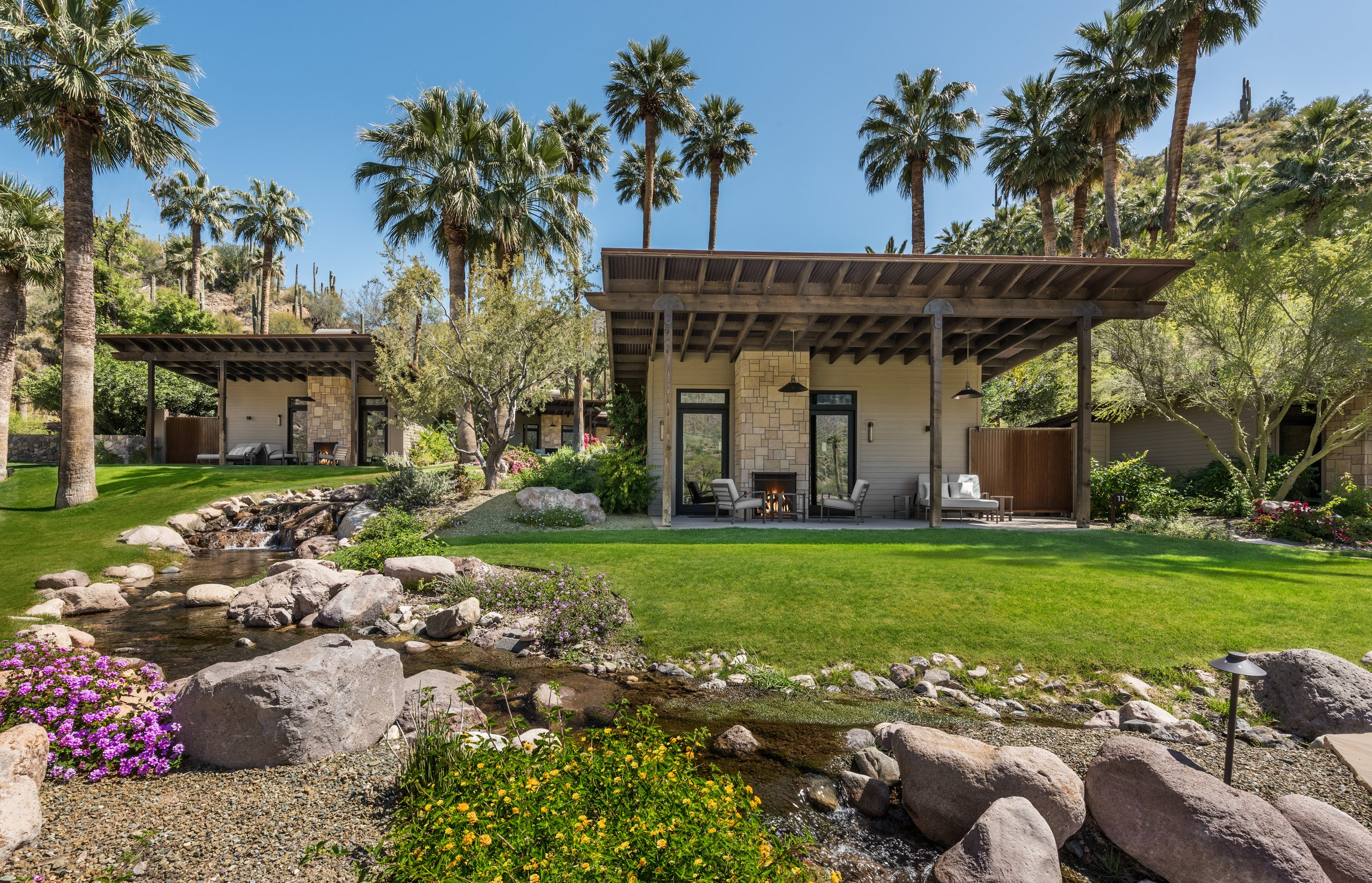 The Spring Bungalows at Castle Hot Springs for extended stay and relaxing vacations in Arizona
