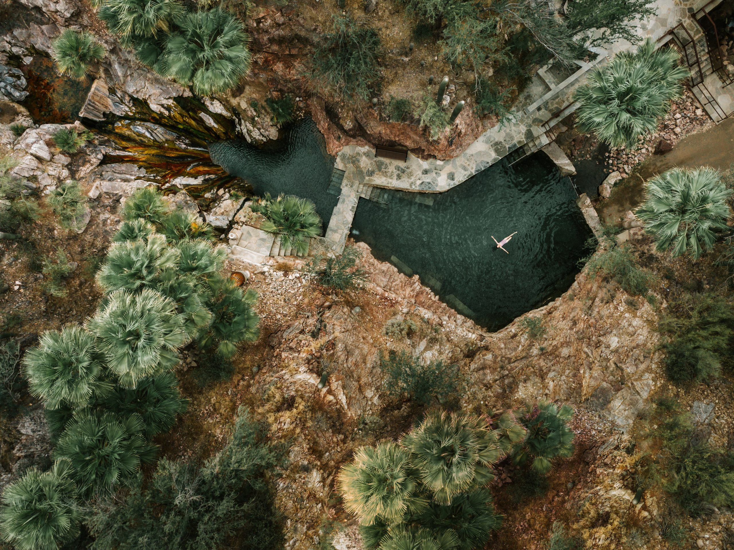 Castle Hot Springs wellness resort around mineral hot springs in Arizona