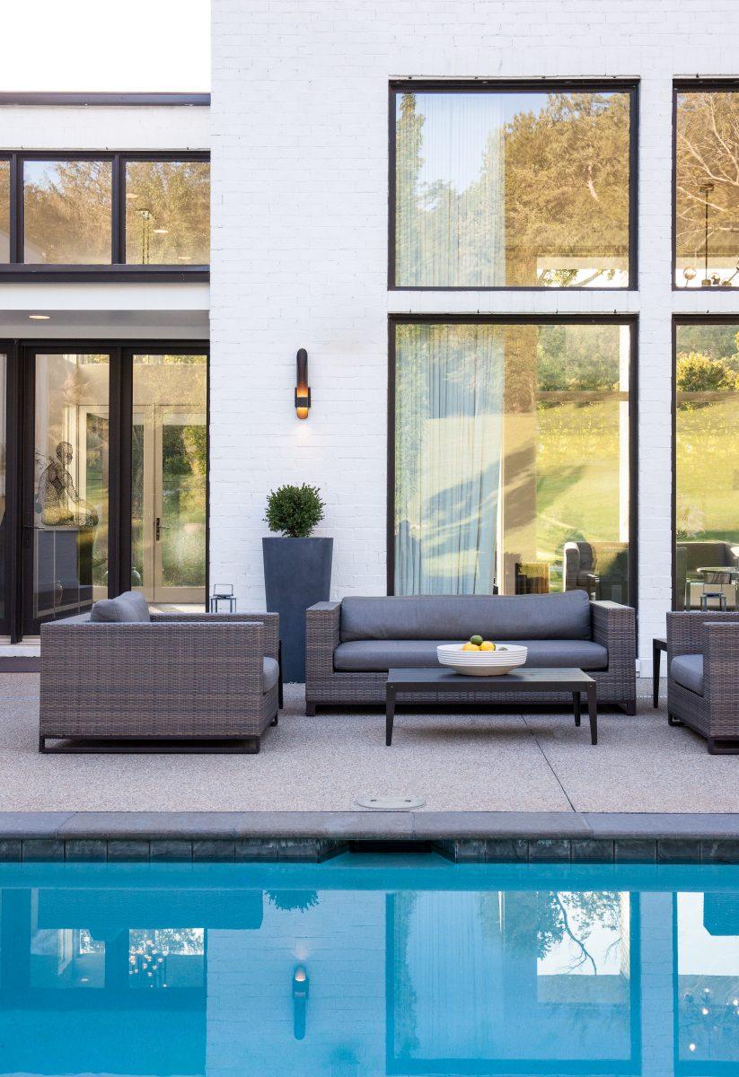Poolside outdoor furniture
