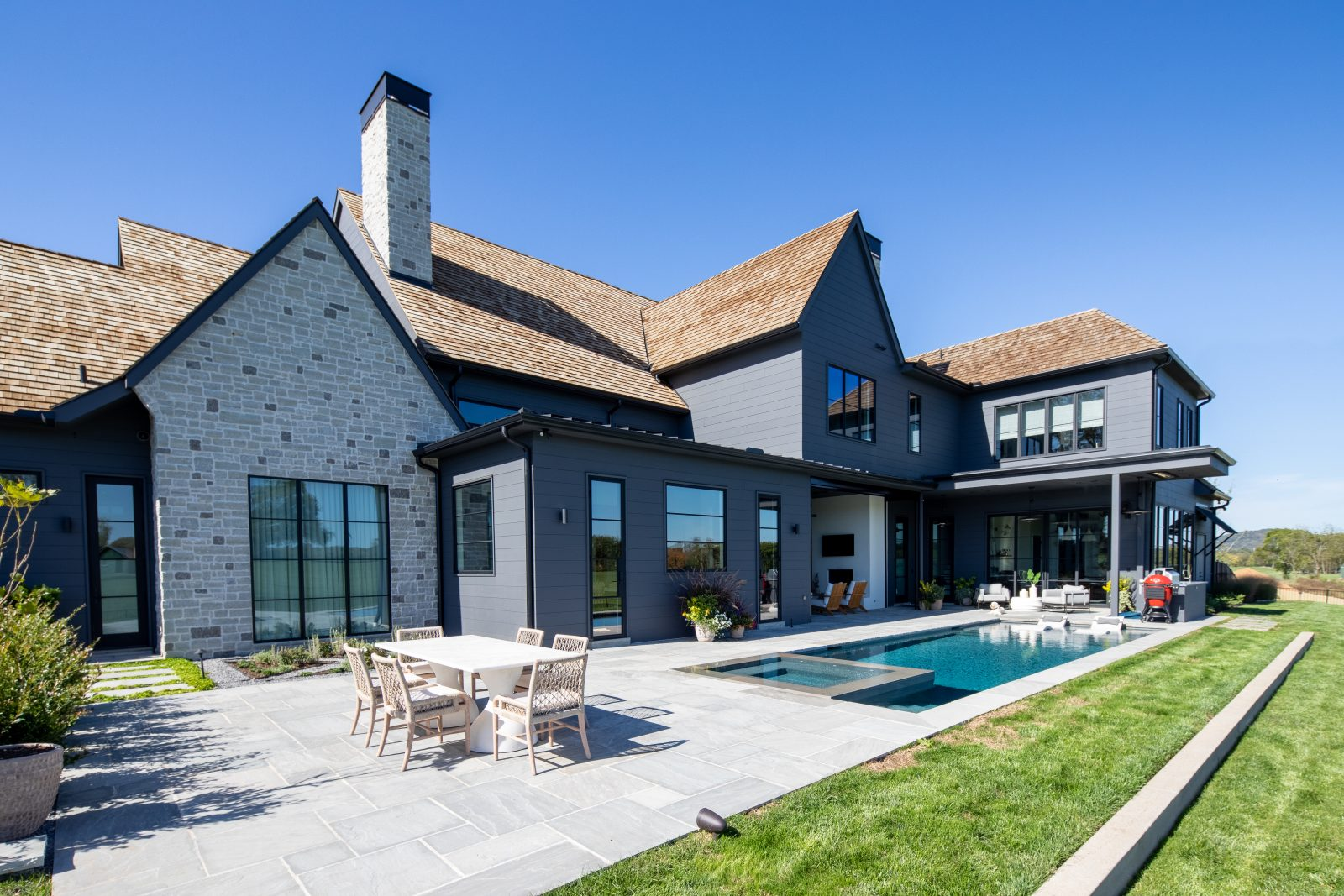 Outdoor backyard space of a luxury nashville home