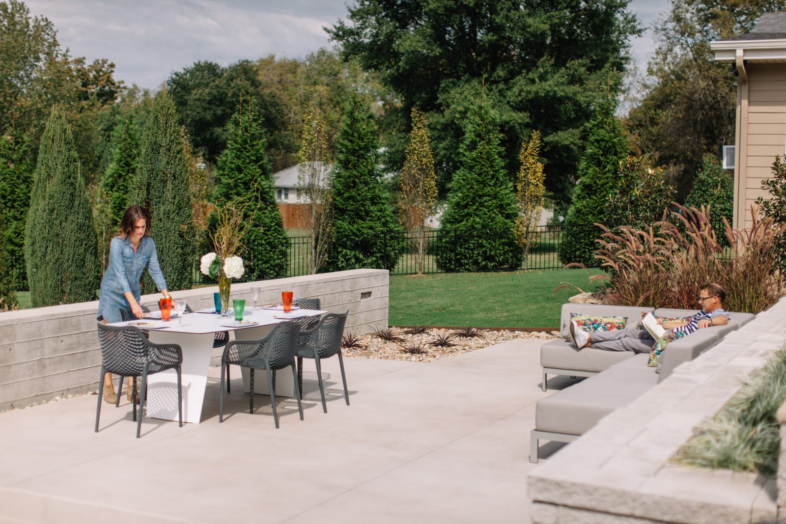 outdoor furniture makes for great entertaining and relaxing