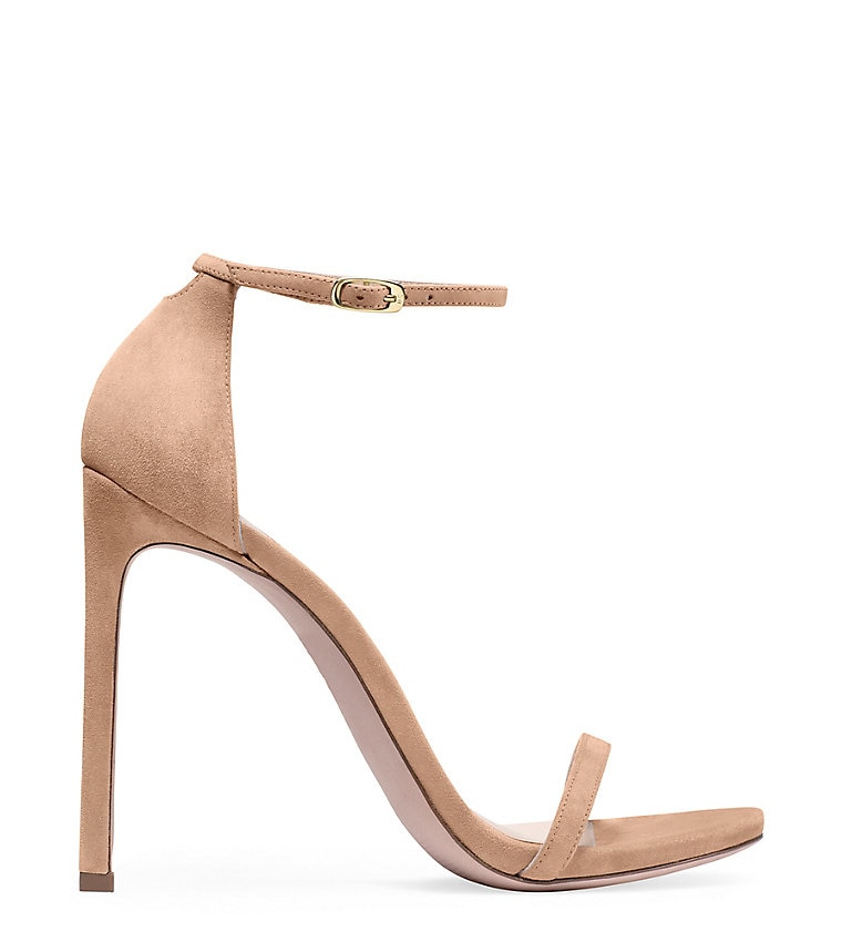 blush colored, beige nudist stuart weizman shoe at The Mall at Green Hills