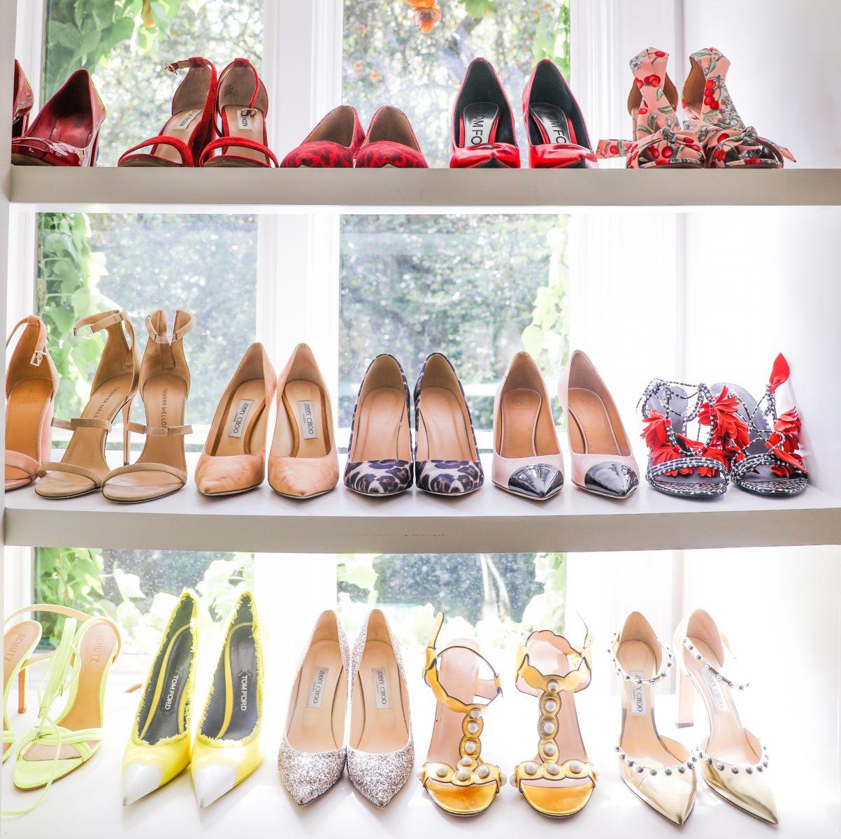 Color-coordinated vintage shoes