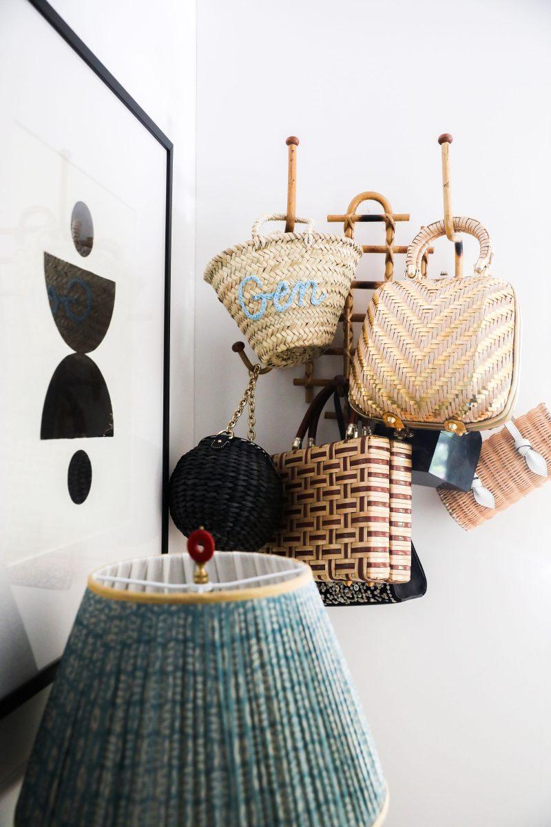 Gen's woven straw and grass handbags