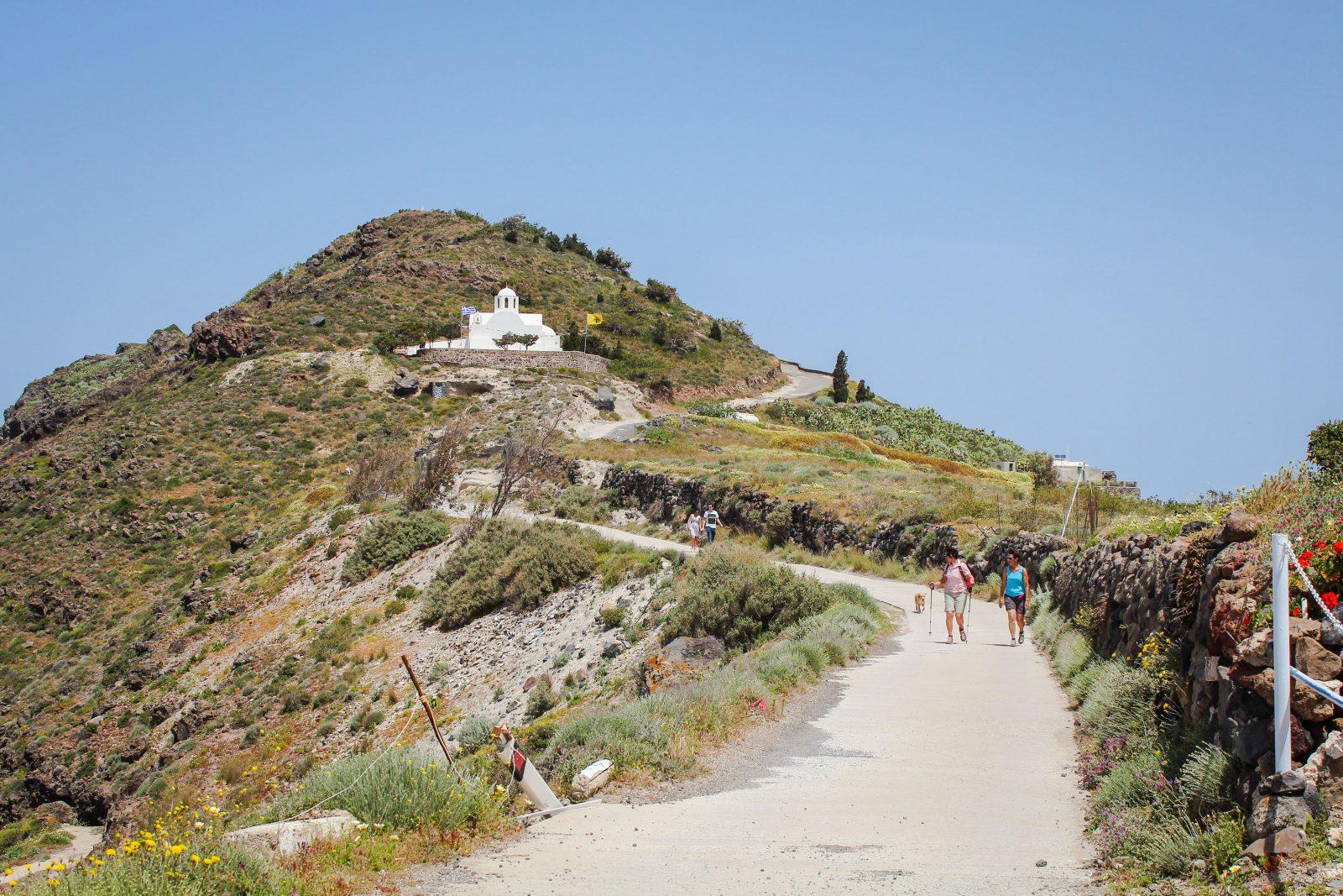 Enjoy a hike from Fira to Oia, Greece