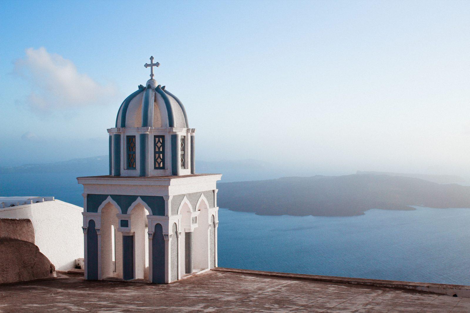 Santorini chapel in Greece