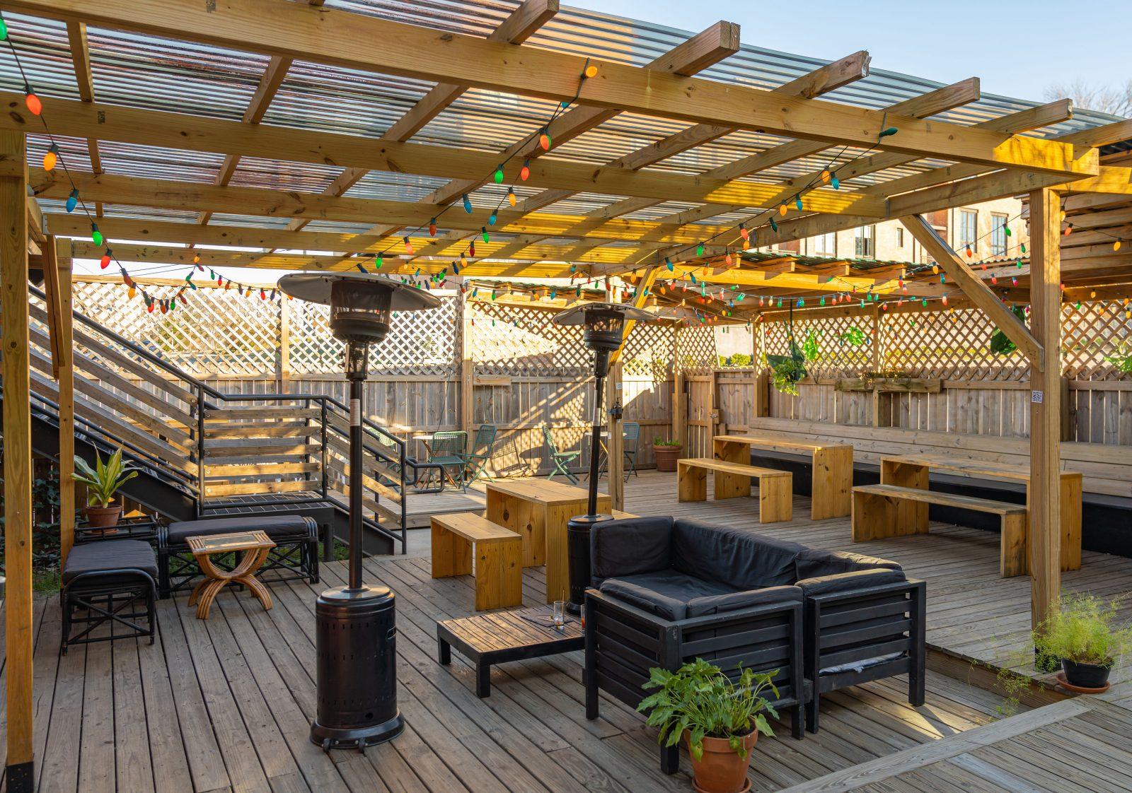 Jackalope Brewery rooftop lounge