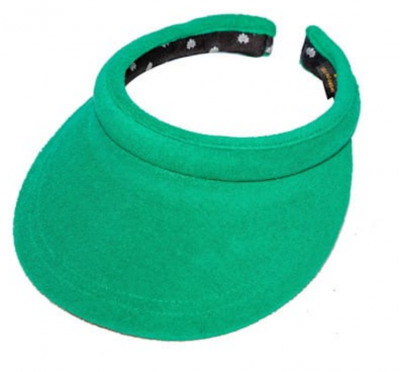 Green Terrycloth visor by Lele Sadoughi