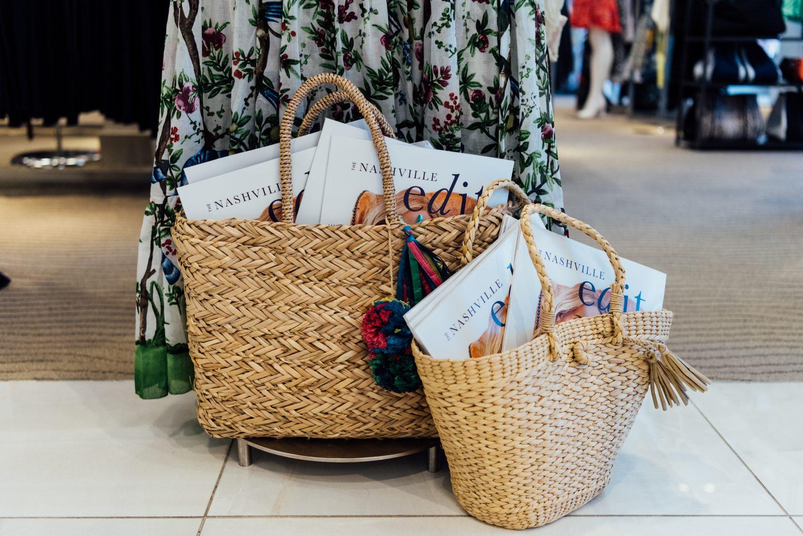 The Nashville Edit copies in woven straw handbags