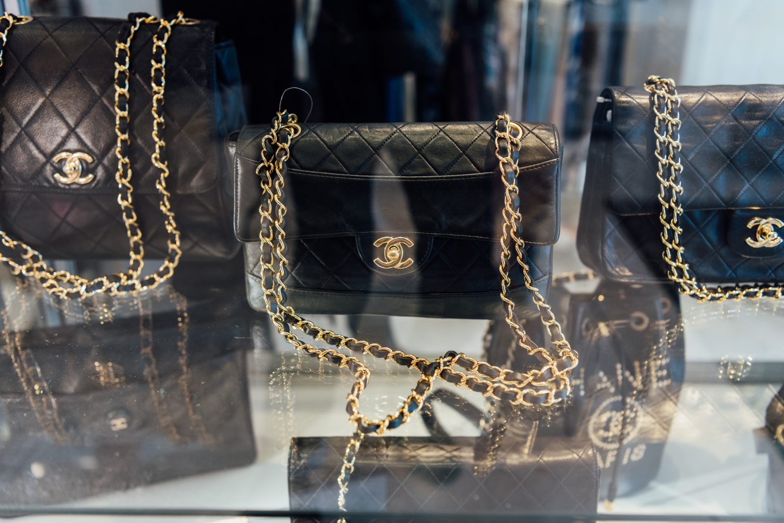 The collection of Chanel bags at Gus Mayer