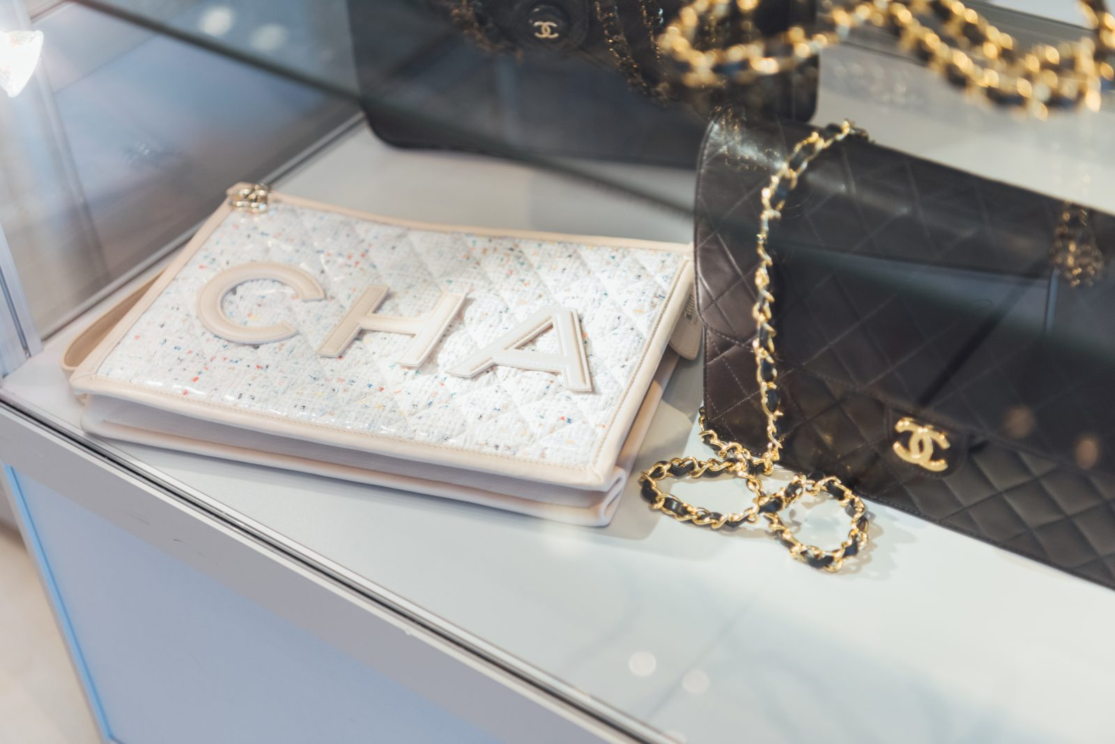 Chanel vintage bags at Gus Mayer