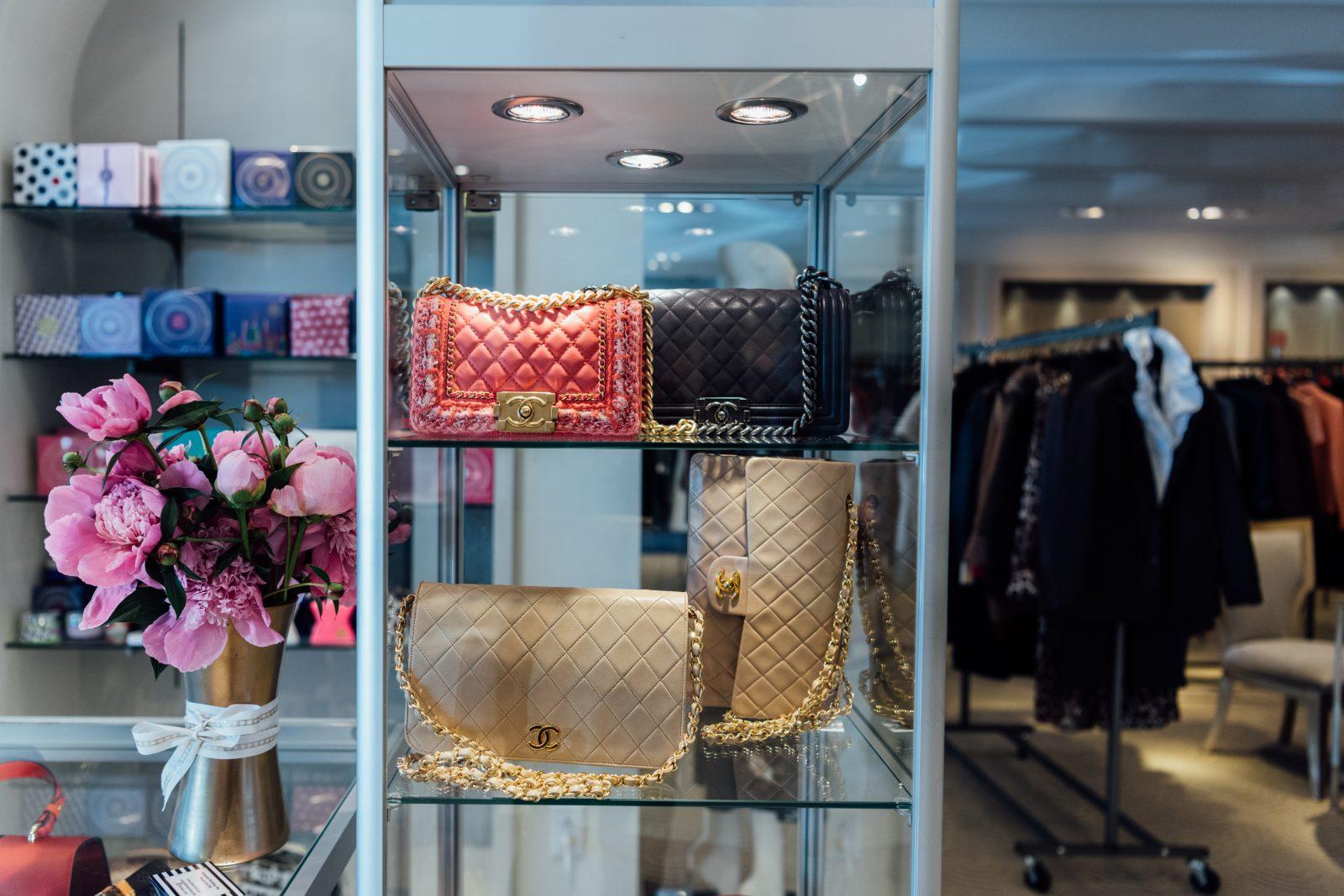 Fashion chanel bags at Gus Mayer
