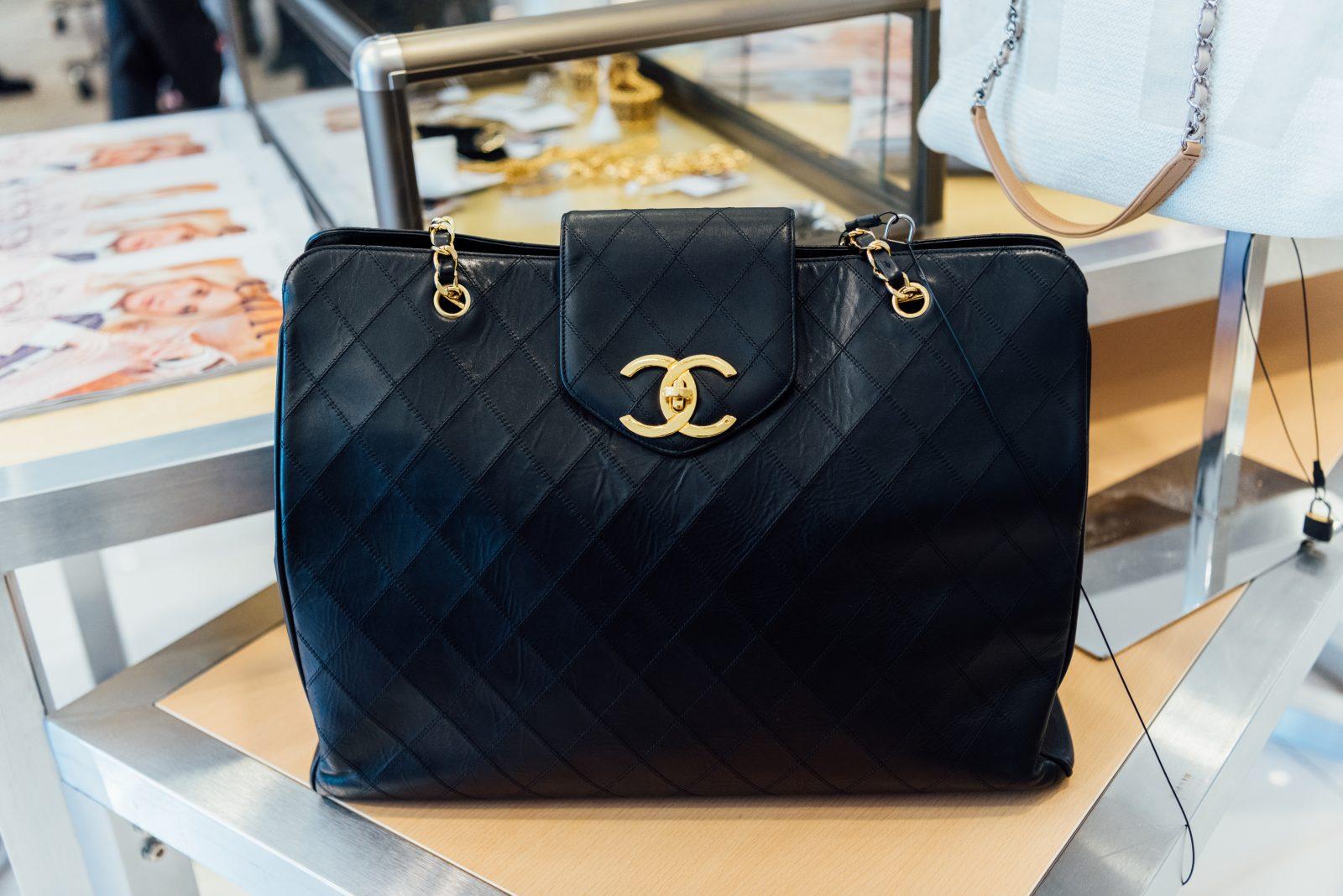 Black Chanel handbag at Gus Mayer in Nashville TN