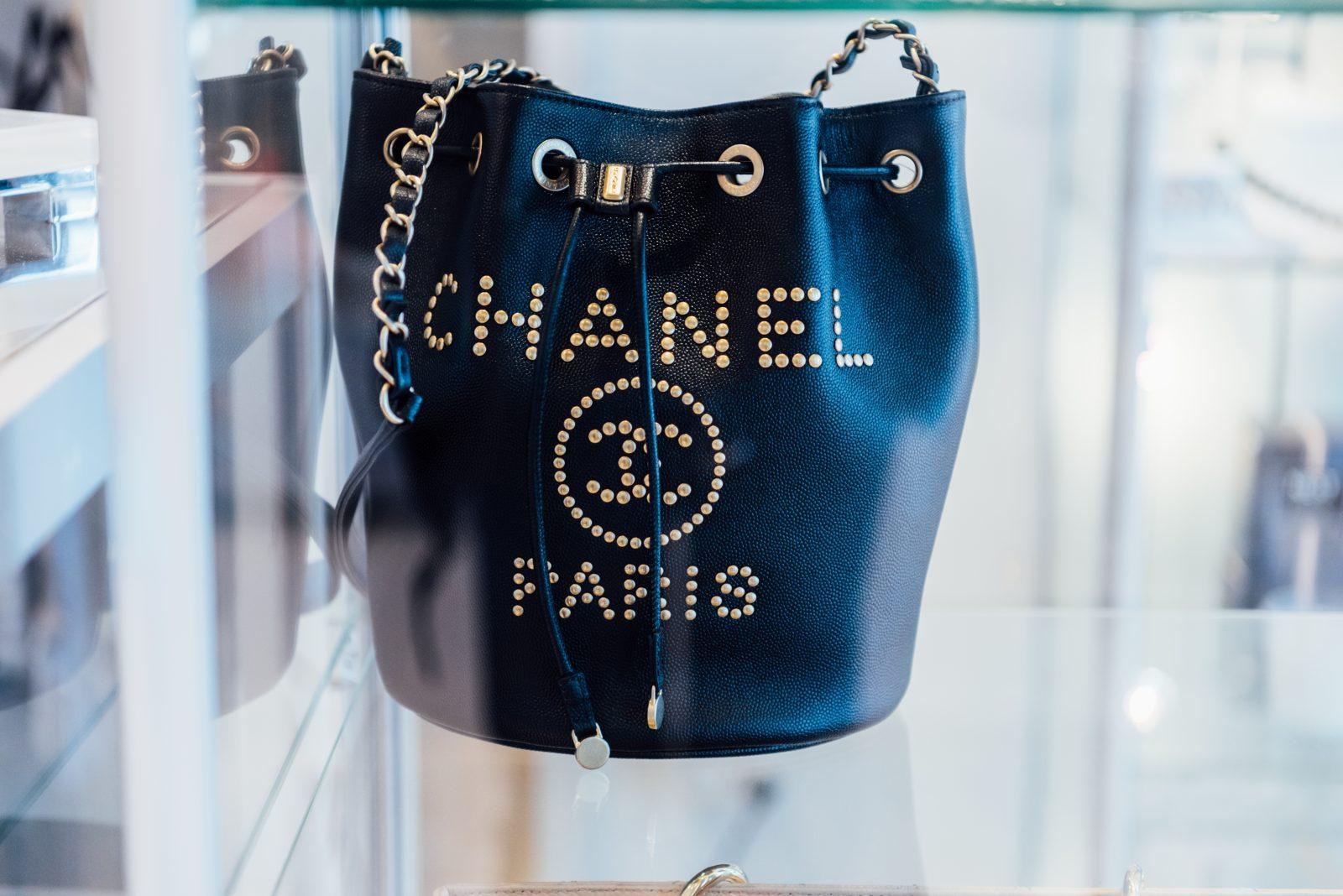 Chanel Paris drawstring vintage bag from Gus Mayer