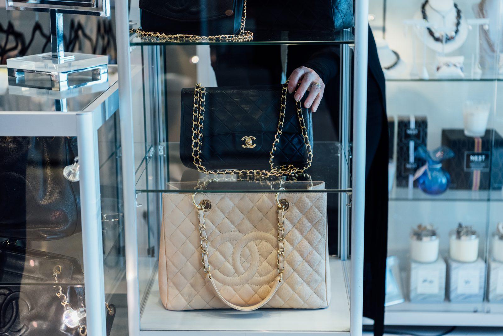 Chanel bags at Gus Mayers