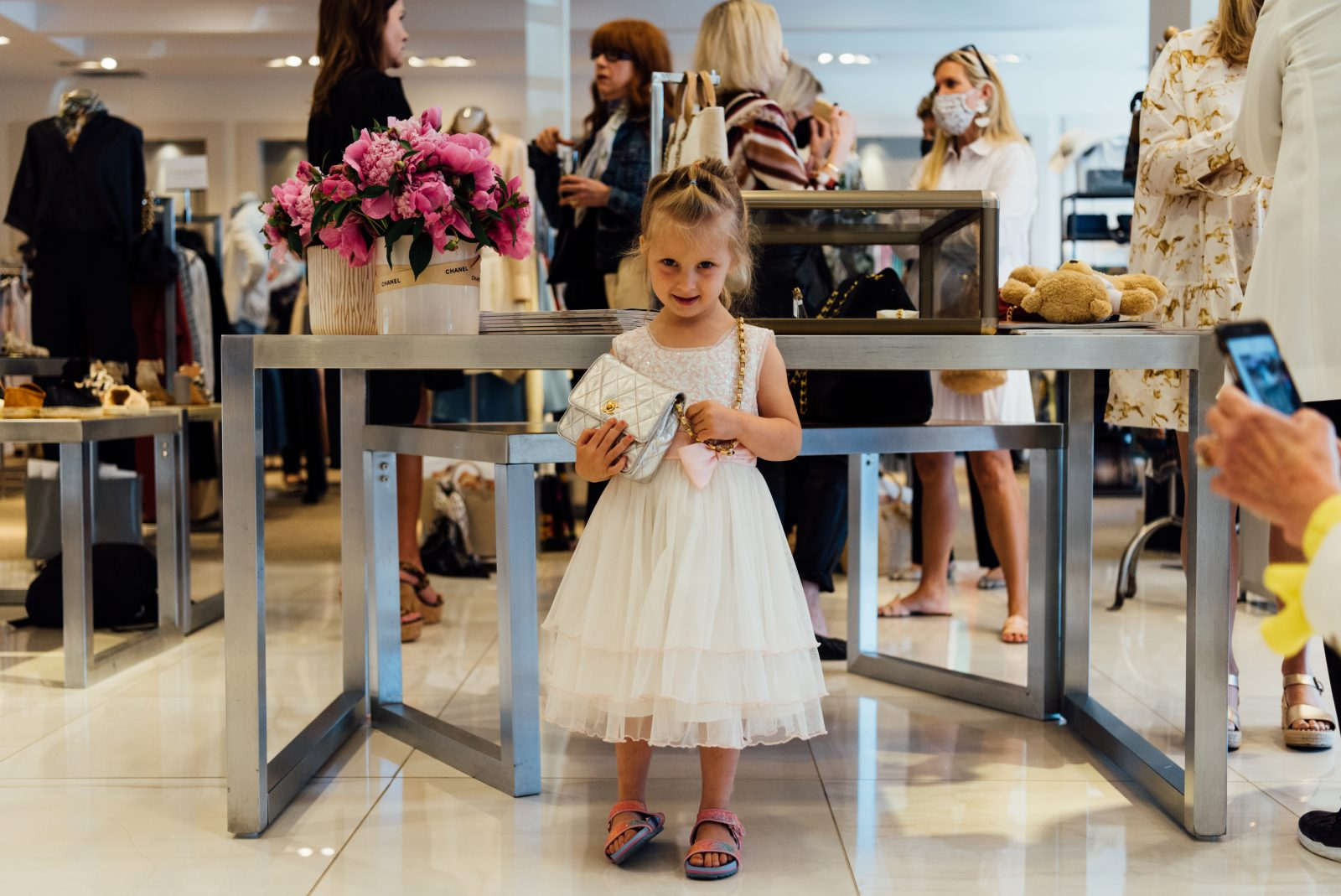 A young attendee at the Gus Mayer Vintage Trunk Show