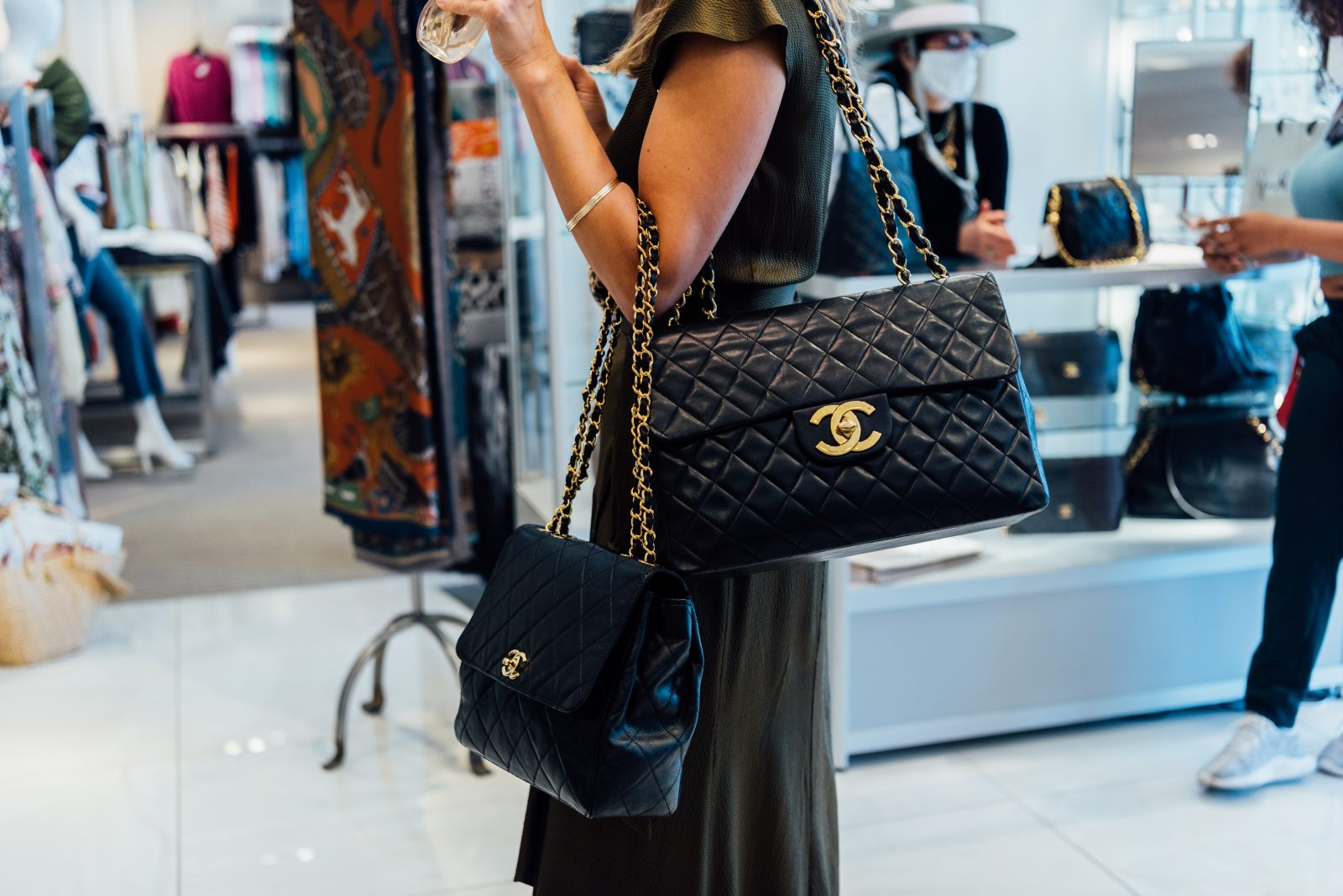 Chanel showcase bags at Gus Mayer