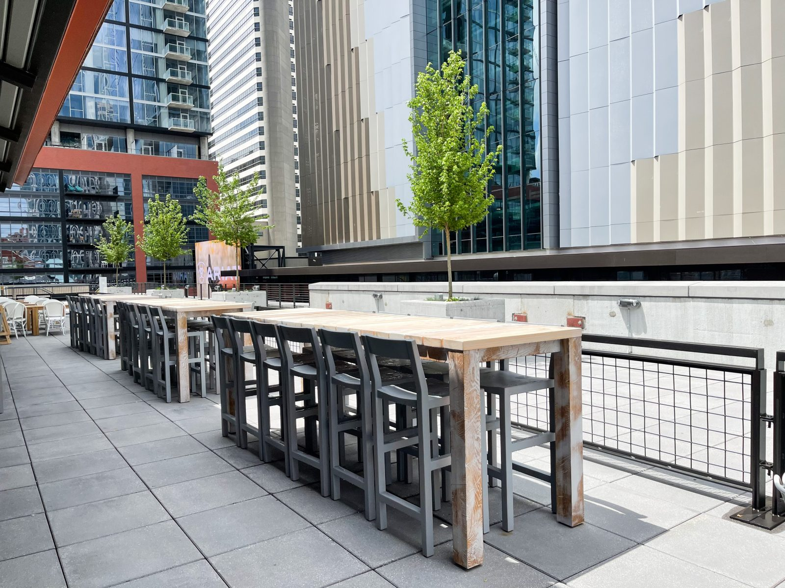 Rooftop patio at Sixty Vines in Nashville, TN.