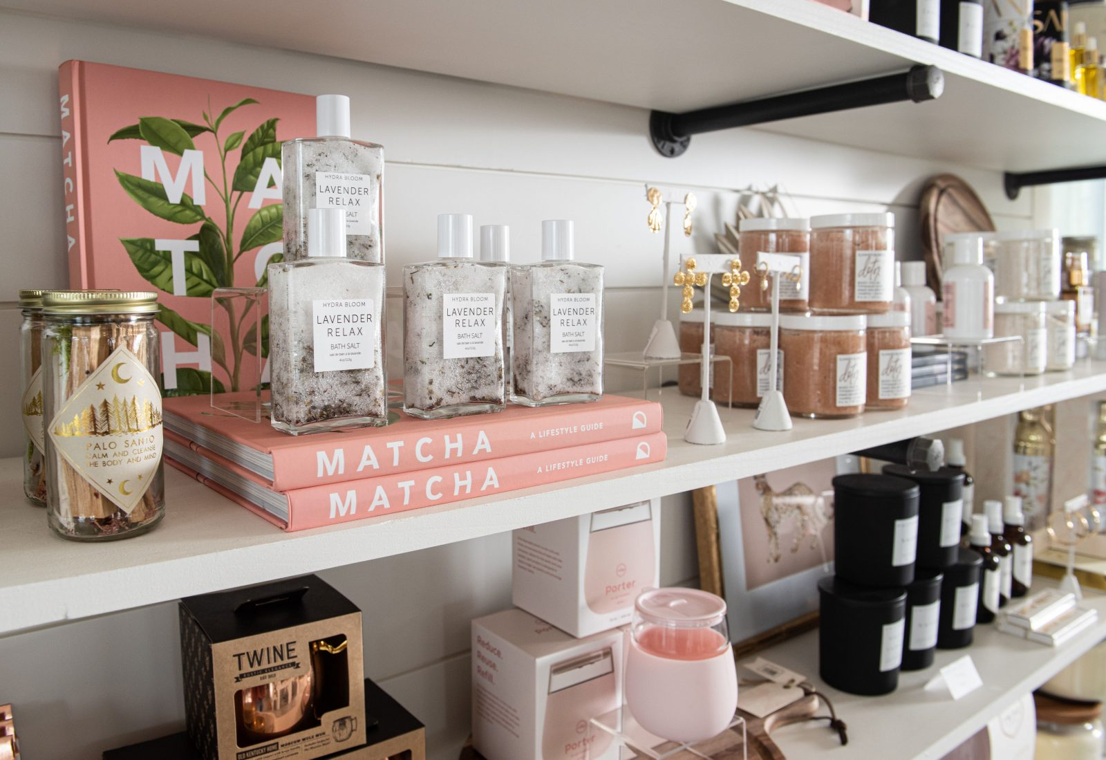 Matcha books, candles and more at Nella Moon
