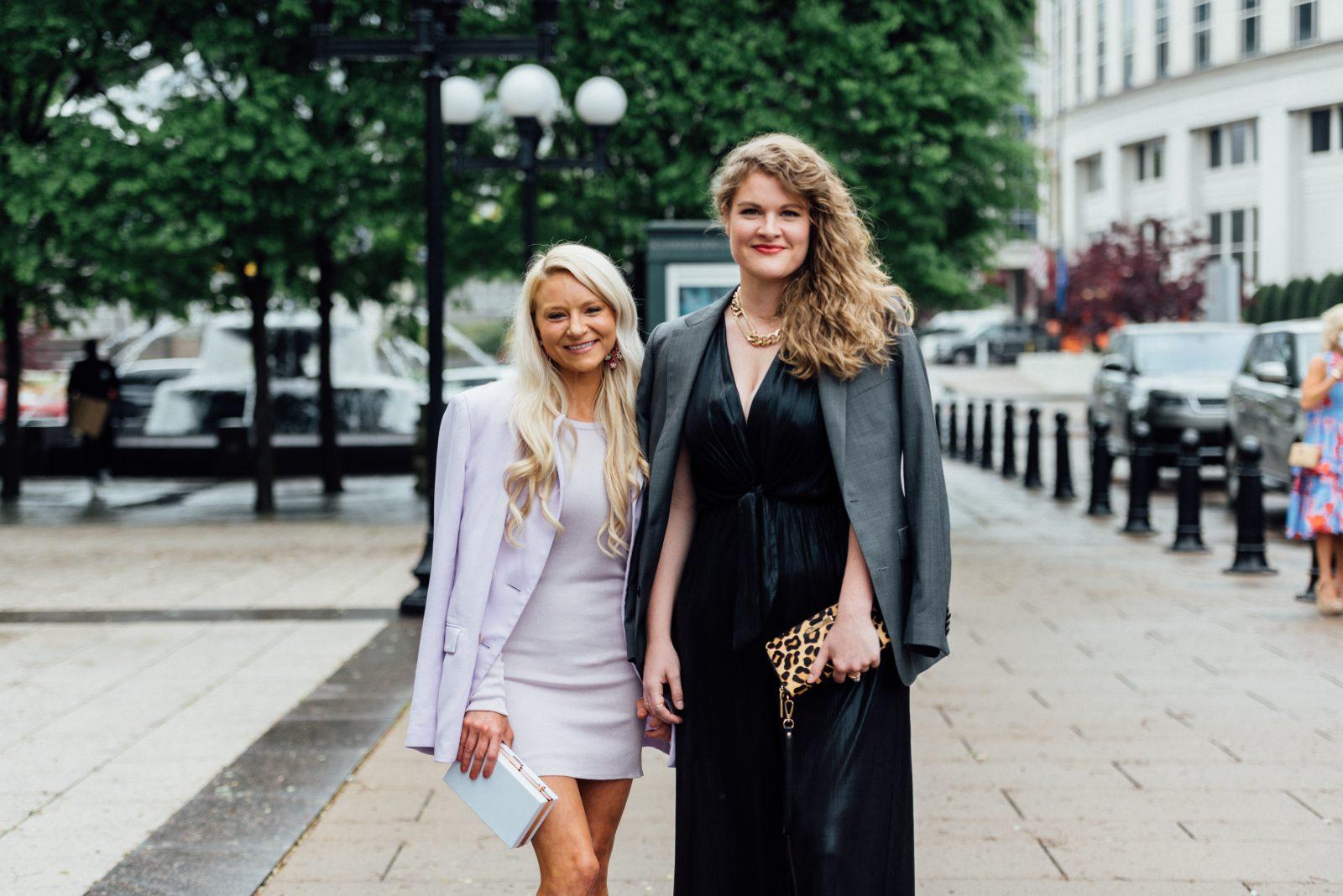 Katie Devault in Gauge81 & Julie McClusky wears vintage
