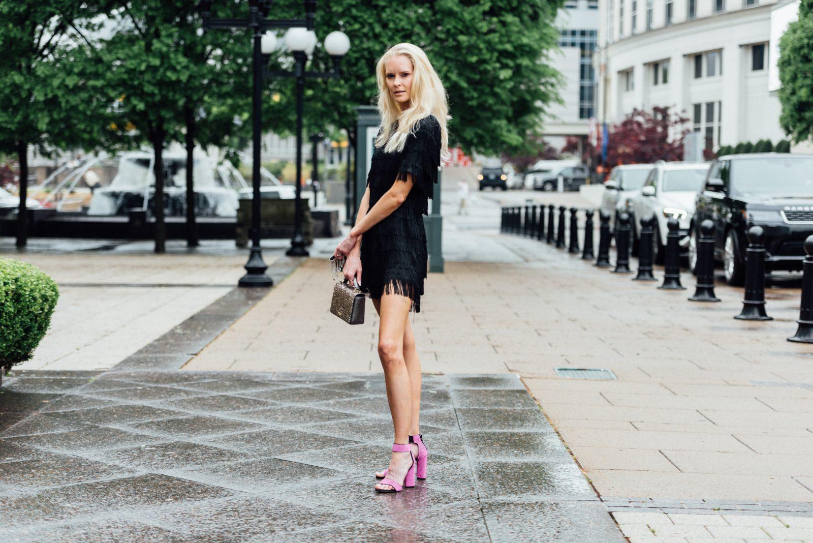 Amber Williams wears Oh My Love, London