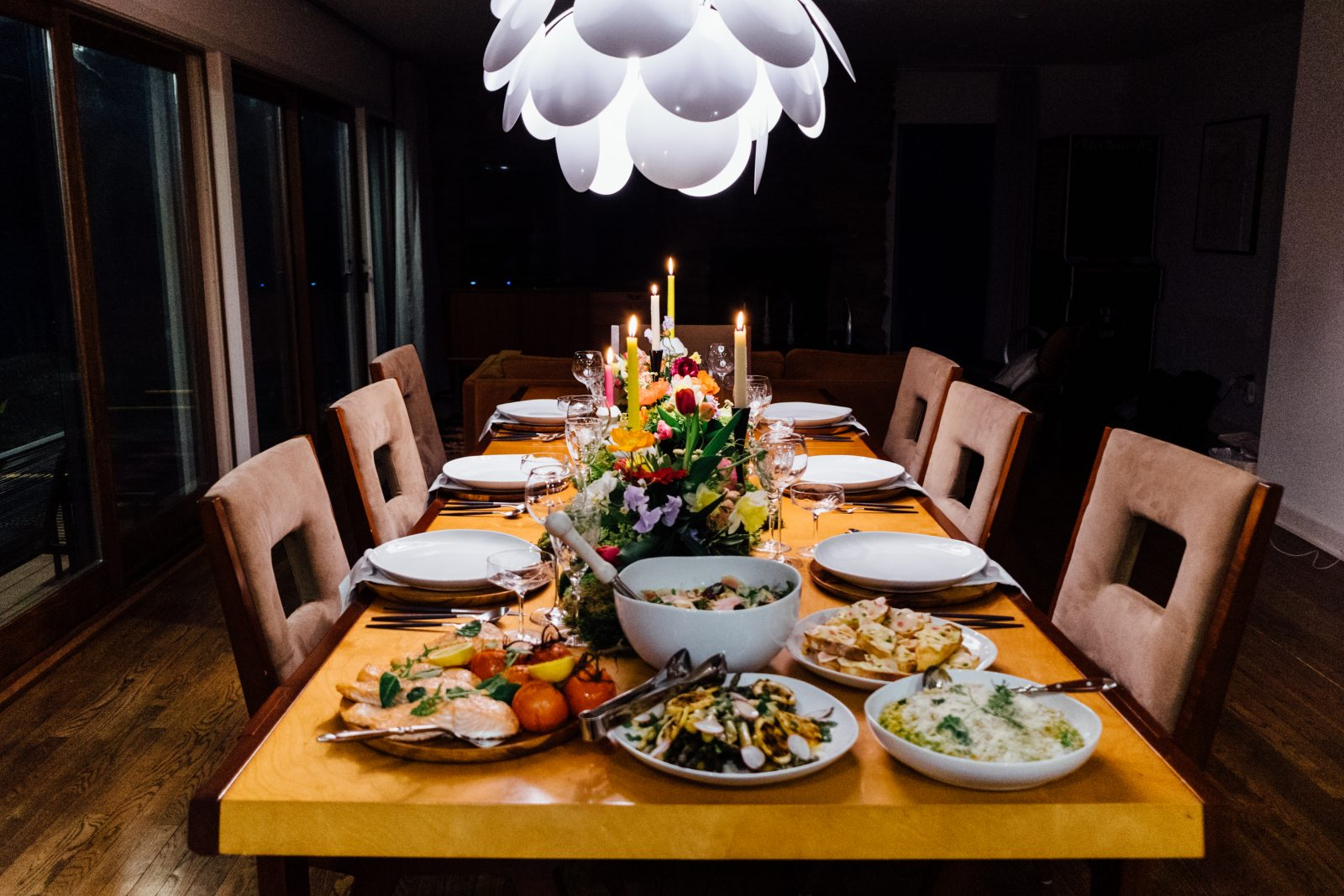 Setting the mood with lighting is a key thing to focus on when planning your next evening at home