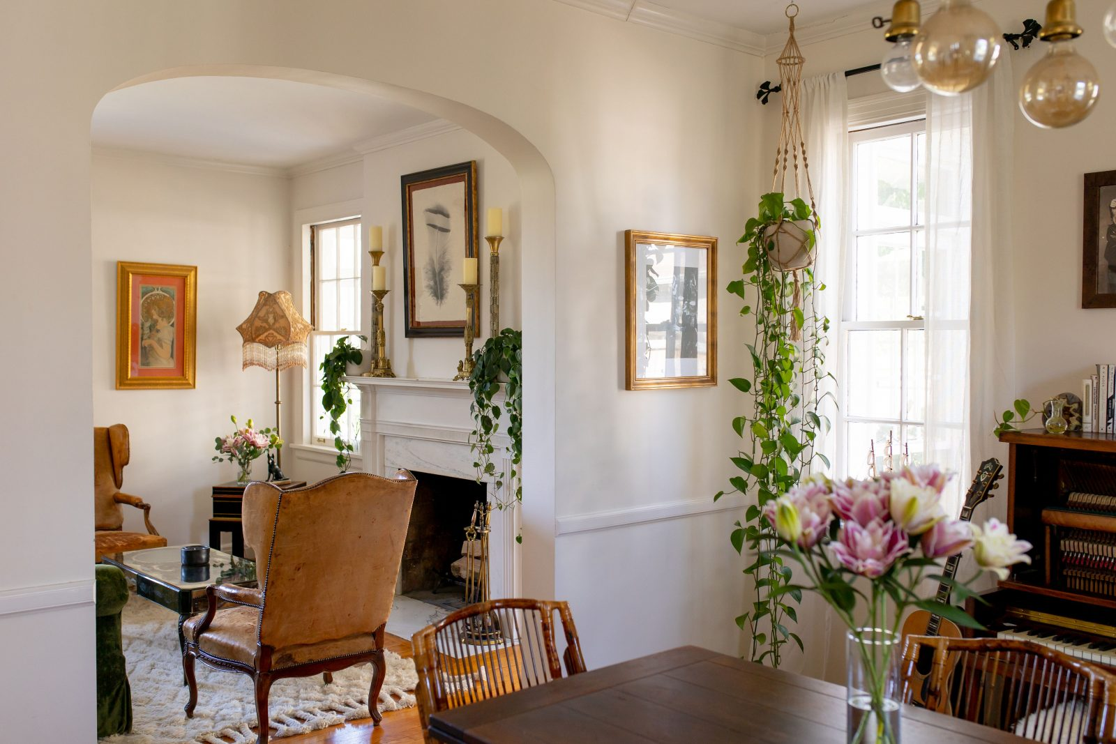Ruby Stewart's dinning and sitting room