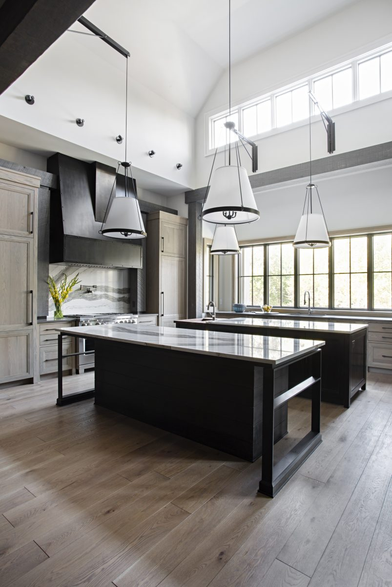 Black and white textured kitchen at the college grove parade of homes in college grove tn