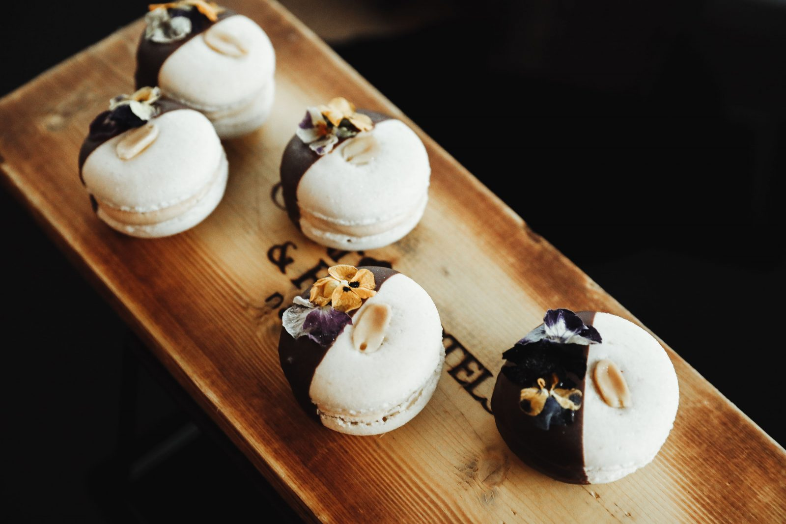 a dessert of macarons from the Omni Hotel in Nashville, for the Women's Edit Event 2020.