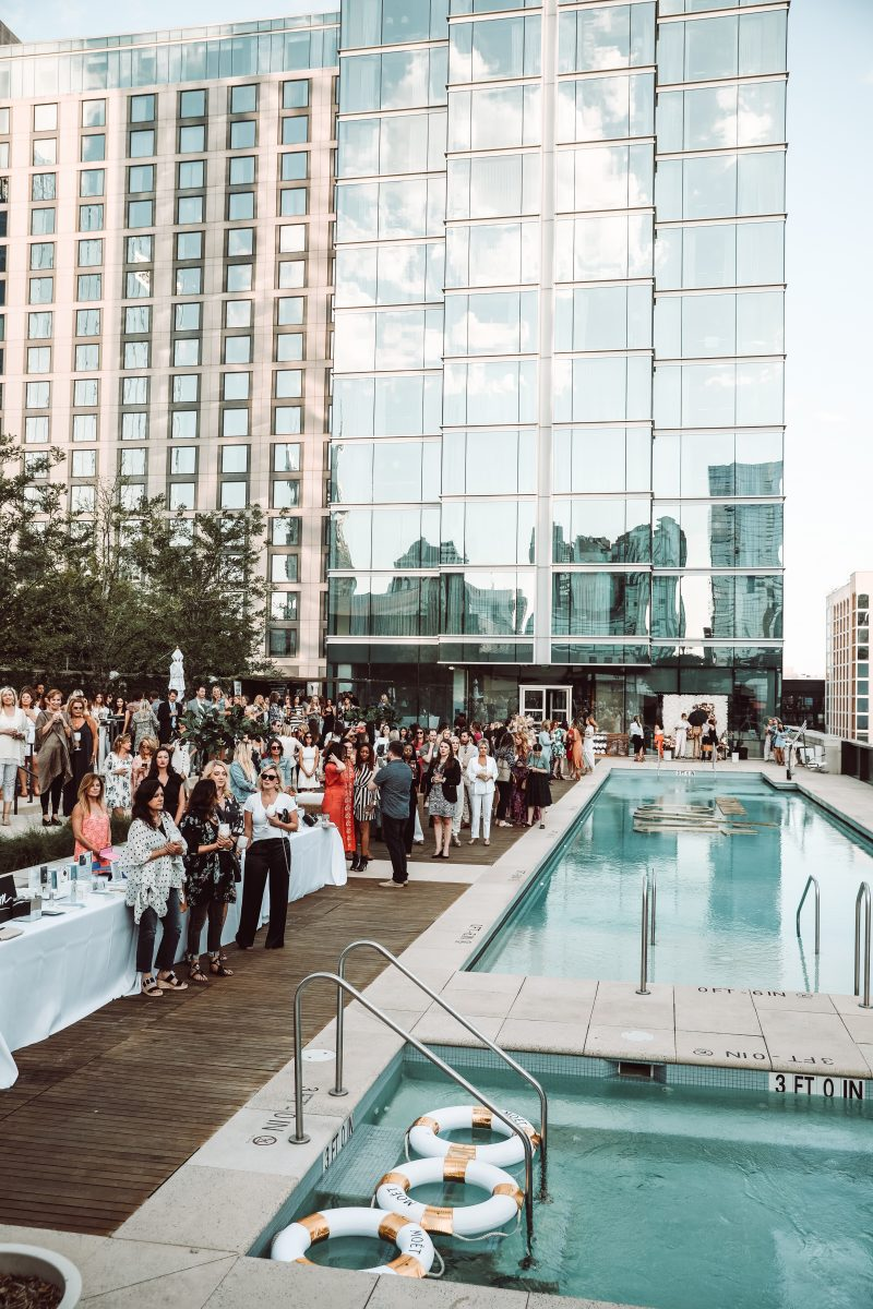 Nashville Women's Edit event from 2020 at the Omni Hotel's rooftop pool deck.